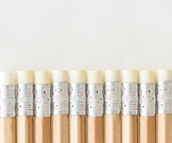 Pencils with eraser side up Stock Photography