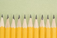 Pencils in even row. royalty free stock photography