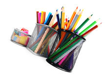 Pencils and felt-tip . Royalty Free Stock Image