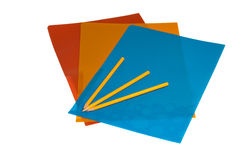 Pencils folders Stock Image