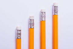 Pencils in the form of office charts Royalty Free Stock Photography