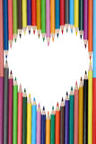 Pencils forming a heart love topic Stock Photo