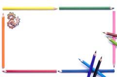 Pencils Frame Stock Image
