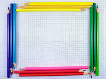 Pencils frame Royalty Free Stock Images