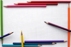 Pencils frame Stock Photography