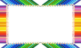 Pencils frame Royalty Free Stock Photos