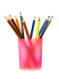 Pencils in glass Stock Images