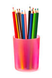 Pencils in glass Royalty Free Stock Photography