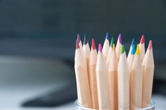 Pencils in a glass jar Stock Photography