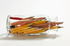 Pencils in Glass Jar Stock Photography
