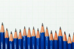 Pencils and graph paper Stock Photo