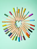 Pencils and heart 2 Stock Image