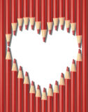 Pencils heart shape Royalty Free Stock Photography