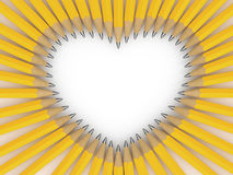 Pencils heart Royalty Free Stock Images