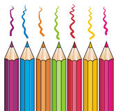 Pencils and his colors Royalty Free Stock Images