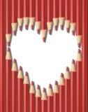 Pencils hjärtaform royaltyfri fotografi