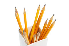 Pencils in Holder Royalty Free Stock Photo