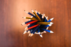 Pencils in a holder Royalty Free Stock Photos