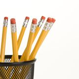 Pencils in holder. Royalty Free Stock Image