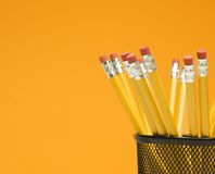 Pencils in holder. Stock Photography