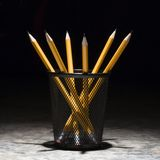 Pencils in holder. Stock Image