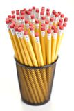 Pencils in holder. Royalty Free Stock Photo