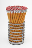 Pencils In Holder Stock Photos