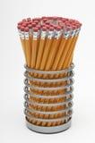 Pencils In Holder Stock Photos