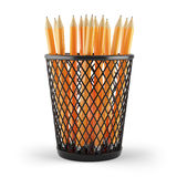 Pencils in holder. On white background. 3d rendered image Stock Photography