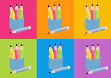 Pencils icon Royalty Free Stock Image