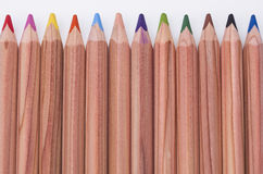 Pencils. Image shows some colored pencils in a row Royalty Free Stock Photos