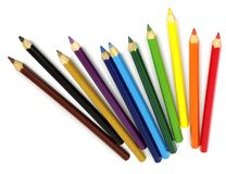 Pencils isolate Royalty Free Stock Photography