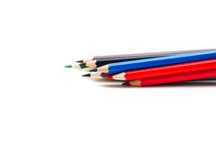 Pencils isolated. On a white Royalty Free Stock Photos