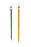 2 Pencils isolated for background Stock Photo