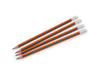 Pencils isolated on pure white background Stock Photography