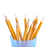 Pencils isolated on the white Royalty Free Stock Photography