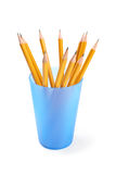 Pencils isolated on the white Stock Photography