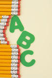 Pencils and Letters stock photo