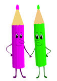 Pencils, lilac and green Royalty Free Stock Photo