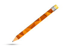 Pencils  lined  with  orange triangle Stock Images