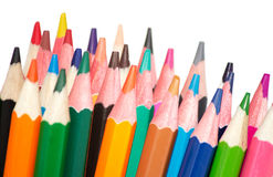 Pencils. A lot of pencils on a white background isolated Stock Photo