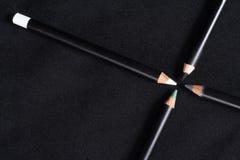 Pencils for a make-up. 4 pencils for a make-up Stock Photo