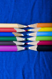 Pencils of many colors Royalty Free Stock Image