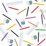 Pencils and measuring lines Stock Image