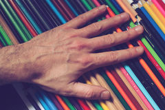 These pencils are mine Stock Photo