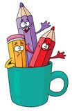 Pencils in a mug. Illustration of pencils in a mug Royalty Free Stock Photography