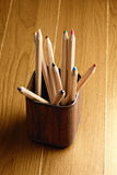 Pencils in mug Royalty Free Stock Images