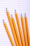Pencils on notebook Royalty Free Stock Photography