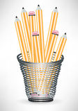 Pencils in office cup Royalty Free Stock Photos