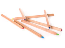 Pencils On White Background Royalty Free Stock Photos